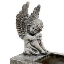 Fioriera con Angel Grey 17cm