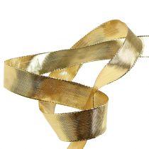 Nastro regalo in oro con bordo filo 25m