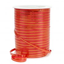 Nastro regalo rosso con strisce dorate 4.8mm 250m