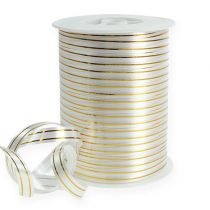 Banda divisa 2 strisce dorate su argento 10 mm 250m