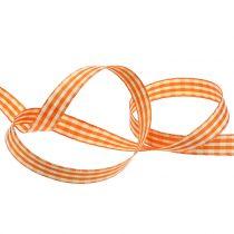 Nastro regalo check arancione 15mm 20m