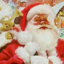Sacchetto regalo Babbo Natale 24 cm x 18 cm x 8 cm