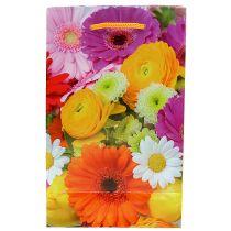 Sacchetto regalo con fiori 12cm x19cm 1pc