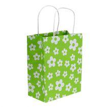 Sacchetti regalo verde 20 cm x 11 cm x 25 cm 8 pezzi