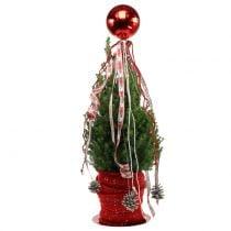 Palla di Natale plastica piccola Ø14cm rossa 1p