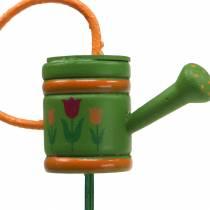 Annaffiatoio per fioriere in legno verde, giallo, arancione assortito 7,5 cm x 5,9 cm H30,5 cm 12 pezzi
