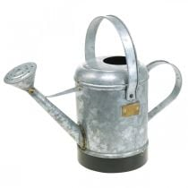 Annaffiatoio decorativo fioriera in metallo cesto appeso aspetto antico 40 × 18 × 22 cm