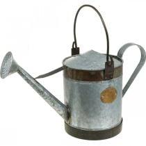 Annaffiatoio decorativo fioriera in metallo aspetto retrò cesto appeso 58 × 23 × 32 cm