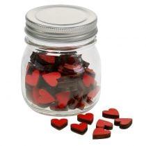 Cuore rosso nel bicchiere 9 cm
