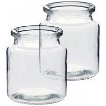 Vaso di vetro da riempire, vaso di fiori, decorazione della tavola, lanterna di vetro 2pz