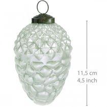 Coni decorativi per alberi frutta autunnale vero vetro aspetto antico Ø7cm H11.5cm 6 pezzi