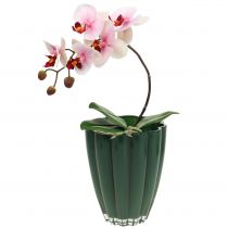 """Vaso in vetro """"Bloom"""" Verde scuro Ø14cm H17cm"""