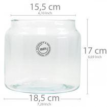 Lanterna in vetro, vaso decorativo, decoro candela Ø18,5cm H21cm