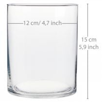 Vaso in vetro Ø12cm H15cm