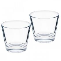 Vaso di vetro trasparente Ø8,5 cm H8 cm 6 pezzi