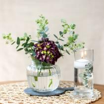 Vaso in vetro con base trasparente Ø6cm H15cm