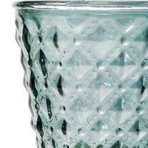 Coppa in vetro con piede, lanterna in vetro Ø11cm H15.5cm