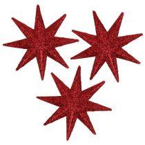 Stella glitterata rossa Ø5cm 20 pezzi