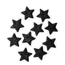 Stella glitterata nera 2,5 cm 100 pezzi