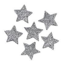 Stella glitterata argento Ø2,5cm 48 pezzi
