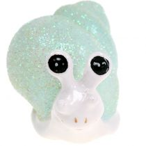 Lumaca Figura da decorare glitter menta / rosa 8 cm 6 pezzi