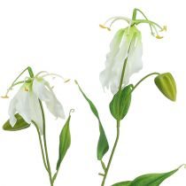Gloriosa bianco artificiale 84 cm 3 pezzi