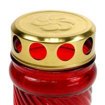 Grave vetro chiaro rosso Ø6cm H10.5cm 1 pezzo