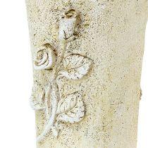 Vaso per crema grave con motivo a rose L35cm 1p