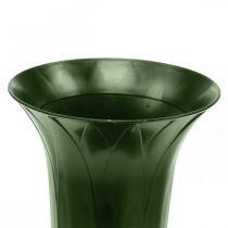 Vaso tomba 42 cm vaso verde scuro decorazione tomba fiori funebri 5 pezzi