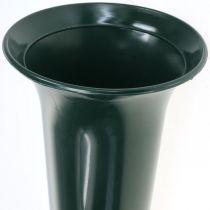 Vaso grave verde scuro 31 cm 5 pezzi