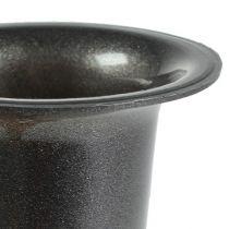 Vaso tomba antracite 28,5 cm