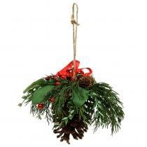 Appendino di Natale con coni e bacche 16cm