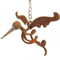 Kolibri decorazione da giardino uccello in acciaio inossidabile da appendere 24 × 19 cm