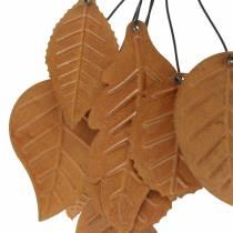 Appendiabiti decorativo foglie autunnali metallo patinato H25cm 2 pezzi