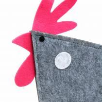 Rubinetto decorativo in feltro con pois grigio, bianco, rosa 57cm x 7cm H58.5cm decorazione finestra