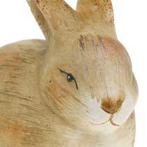 Coniglietto realizzato in ceramica natura 8,5 cm x 12 cm 3 pezzi