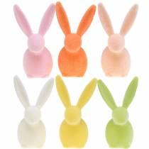 Bunny floccato colori pastello H13cm 6pz