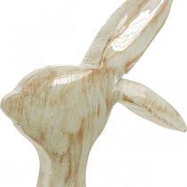 Figura decorativa, coniglietto, decorazione primaverile, Pasqua, decorazione in legno 30,5 cm