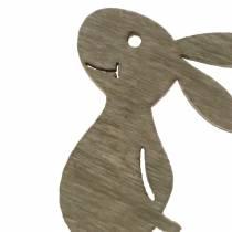 Coniglietto da spargere Legno Bianco, Crema, Marrone Assortito 4cm 72p