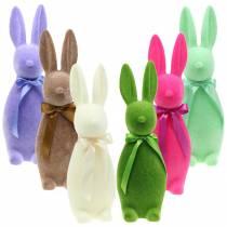 Coniglietti flocati 42 cm Diversi colori