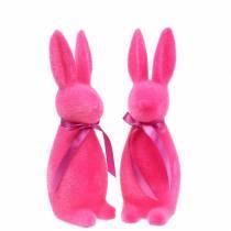 Coniglio floccato 30cm Vari colori 2 pezzi
