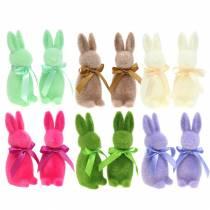Coniglio floccato 16cm Colori diversi 4 pezzi