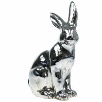 Coniglietto argento antico H42cm