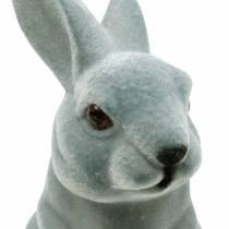 Coniglietto pasquale seduto in posizione verticale, decorazione figura coniglietto floccato, decorazione pasquale 3 pezzi