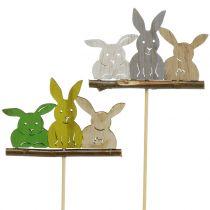 Spina decorativa coniglio H37cm 8 pezzi