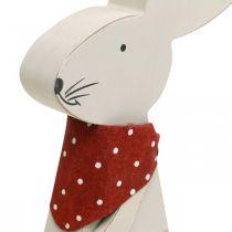 Bunny girl, decorazioni primaverili, coniglietto di legno con secchio, coniglietto pasquale