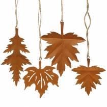 Patina di foglie autunnali da appendere 13 cm 4 pezzi