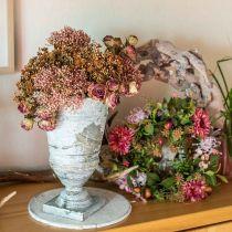 Ghirlanda autunnale crisantemo viola Ø30cm