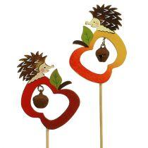 Riccio autunnale con mela 7 cm 12 pezzi