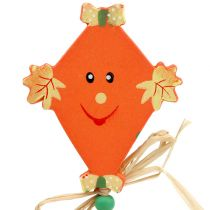 Spina autunnale drago arancione L31cm 4 pezzi